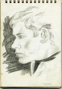 Gordon Frickers self portrait, age 17.