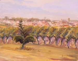 Sauveterre, Dancing Vines, sketch made 'plien aire
