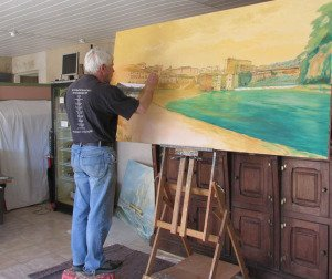 The Port of Gaillac 1863, art in progress.