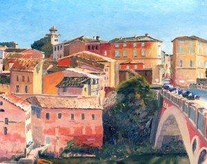 Gaillac, bridge and old town.JPG d