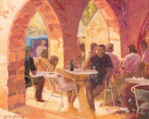 Sauveterre, cafe des Arcardes