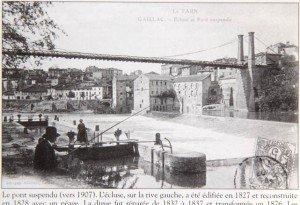carte postale, ecluse et moulin