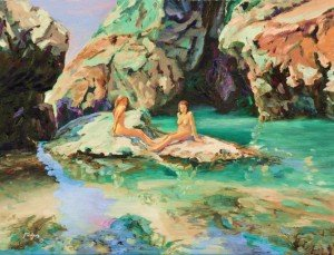 Mermaids in Mermaids Pool, Kynance Cove, Cornwall