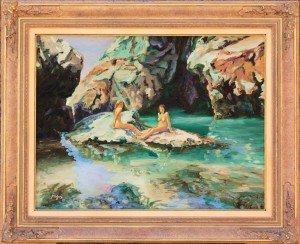 Mermaid's pool, framed