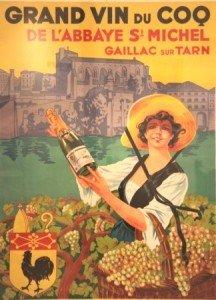 Vin du Coq, old poster