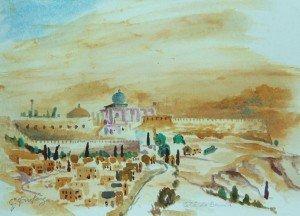 Site of The City of David, Jerusalem.