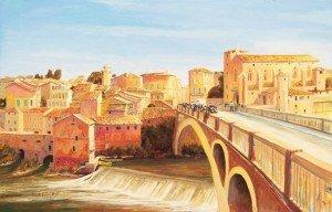 Gaillac, Abbaye, pont, quatier ancient
