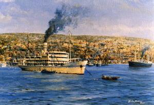 Kedmah' at Hiafa, one of the earlest Zim Line ships