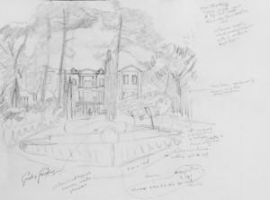Chateau de Saurs sketch 2