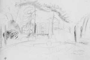 Chateau de Saurs sketch 1