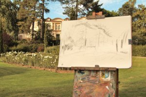 working on Chateau de Saurs a sketch
