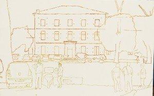 Gaillac sketched design 12.07.16, Chateau Lastours