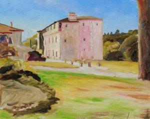 Exploring Chateau Meyragues 06.07.16, plien aire