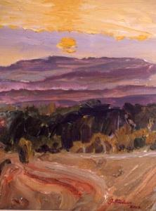 Valley of the Vere, Sunset,  detail, (available)