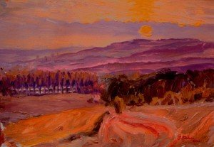 Valley of the Vere, Sunset, (available)