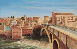 Gaillac, a view including the Abbaye St Michel