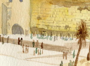 Jerusalem, the Western Wall, detail
