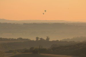 Sunrise and balloons