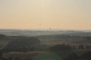 Sunrise, balloons