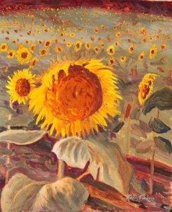 Sunflowers a la Vere, 31 July