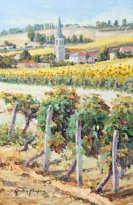 Near Gaillac, landscape painting