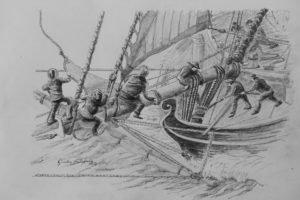 HMS Racehorse crew, graphite